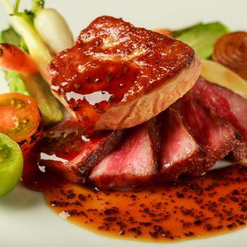 【料理重視派】上州牛&フォアグラ&オマール海老 フルコース試食