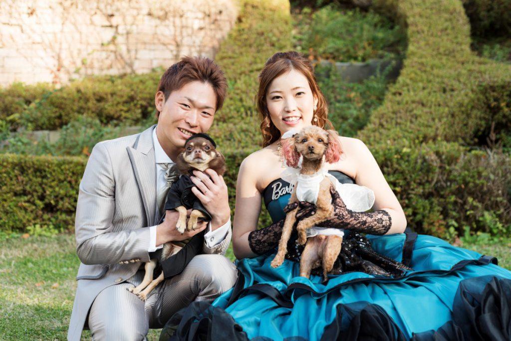愛犬と一緒のキャッスルウエディング!