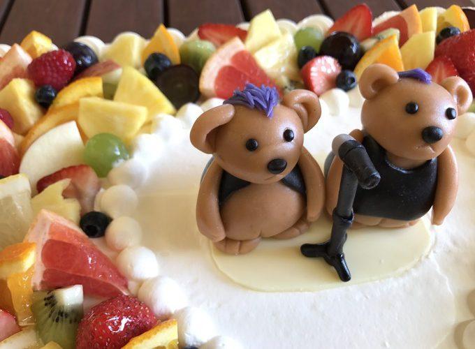 ROCKなクマのウエディンケーキ